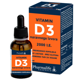 VITAMIN D3 Pharmalife, 2000 I.E., 30 ml